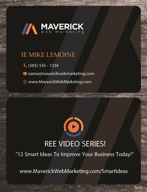 Uk freelance business card designer pune india business card design by uk for maverick web video reheart Image collections