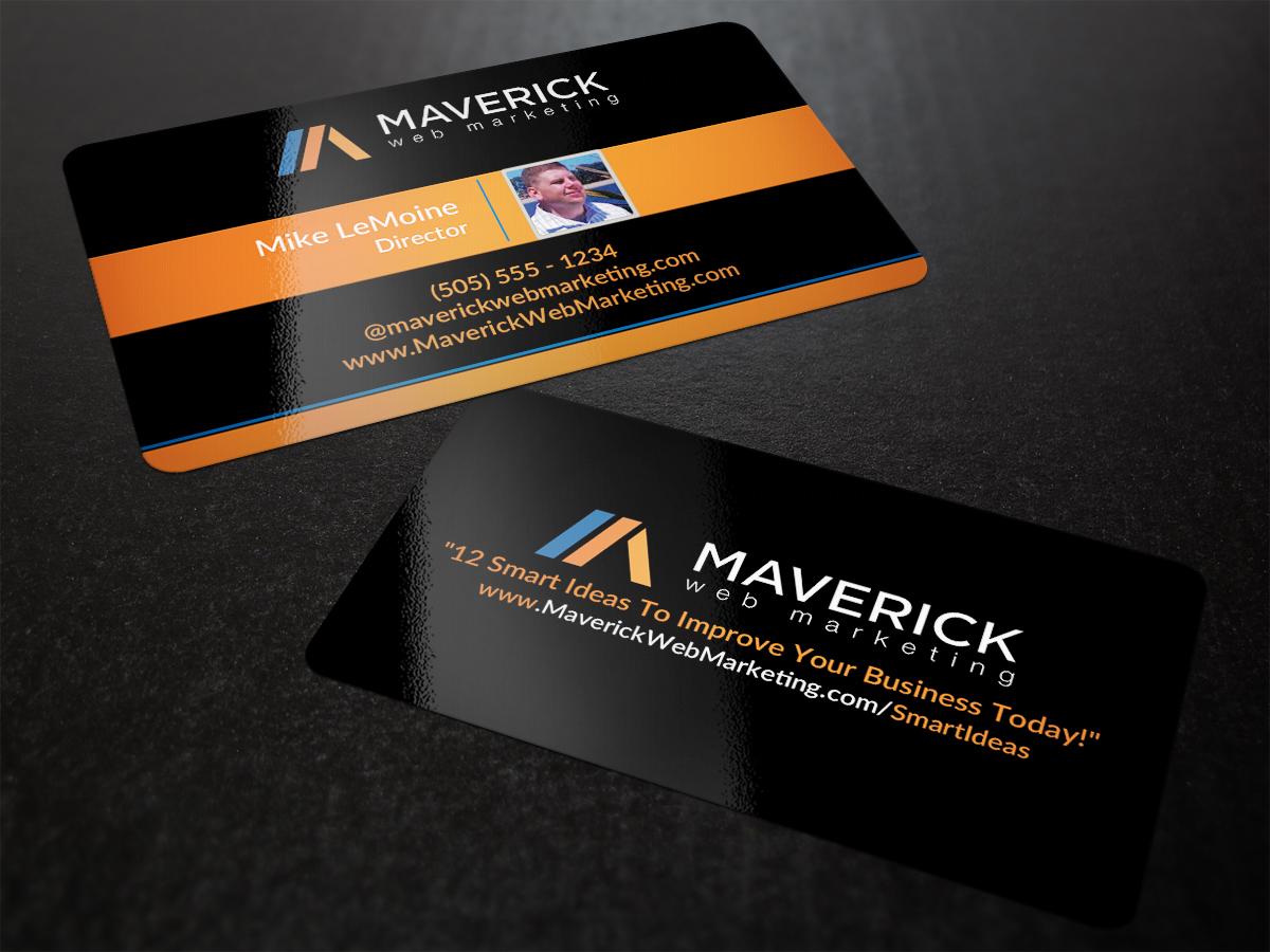 Bold, Modern, Marketing Business Card Design for Maverick Web Video ...