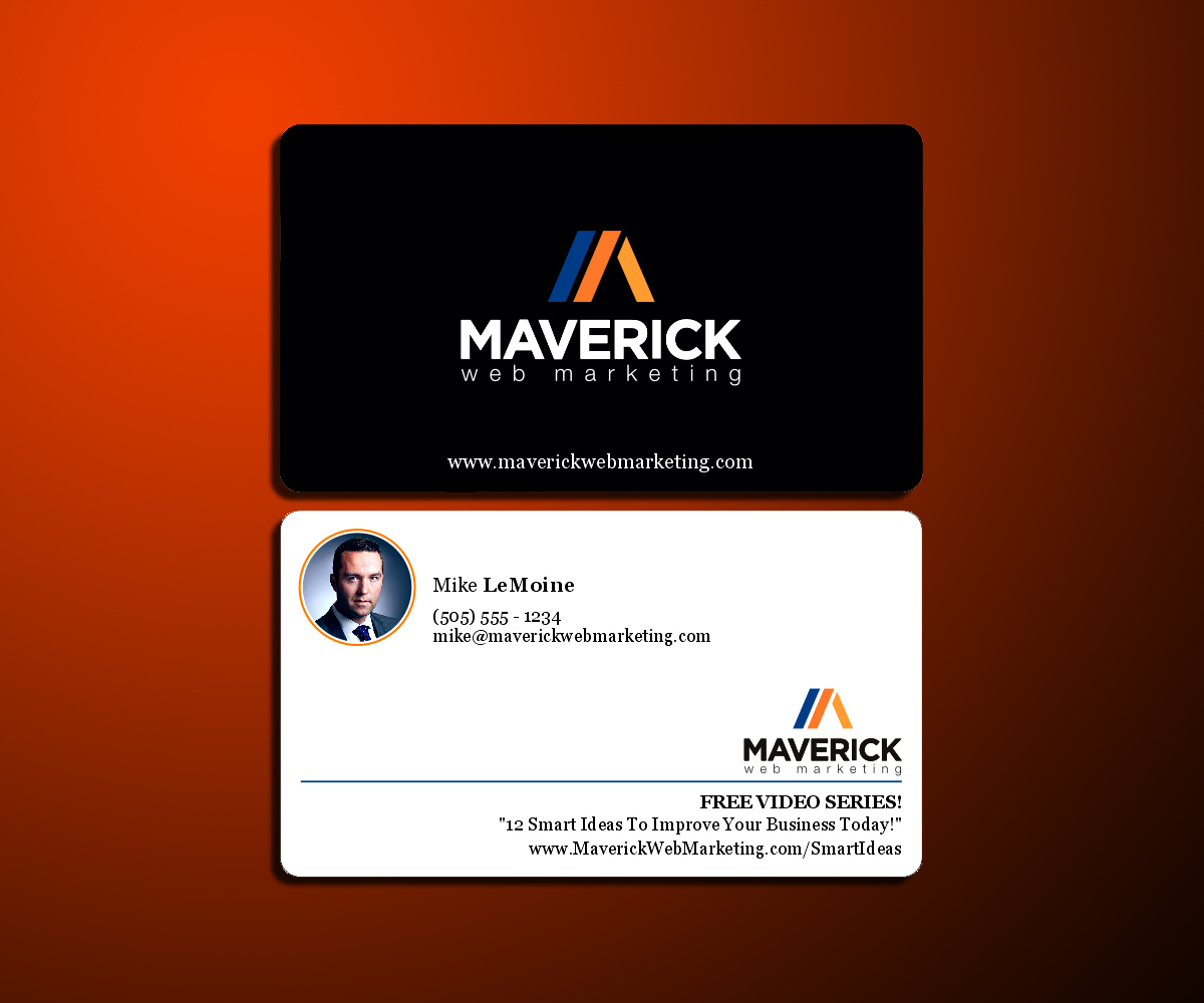Bold, Modern Business Card Design for Maverick Web Video by DZINO ...