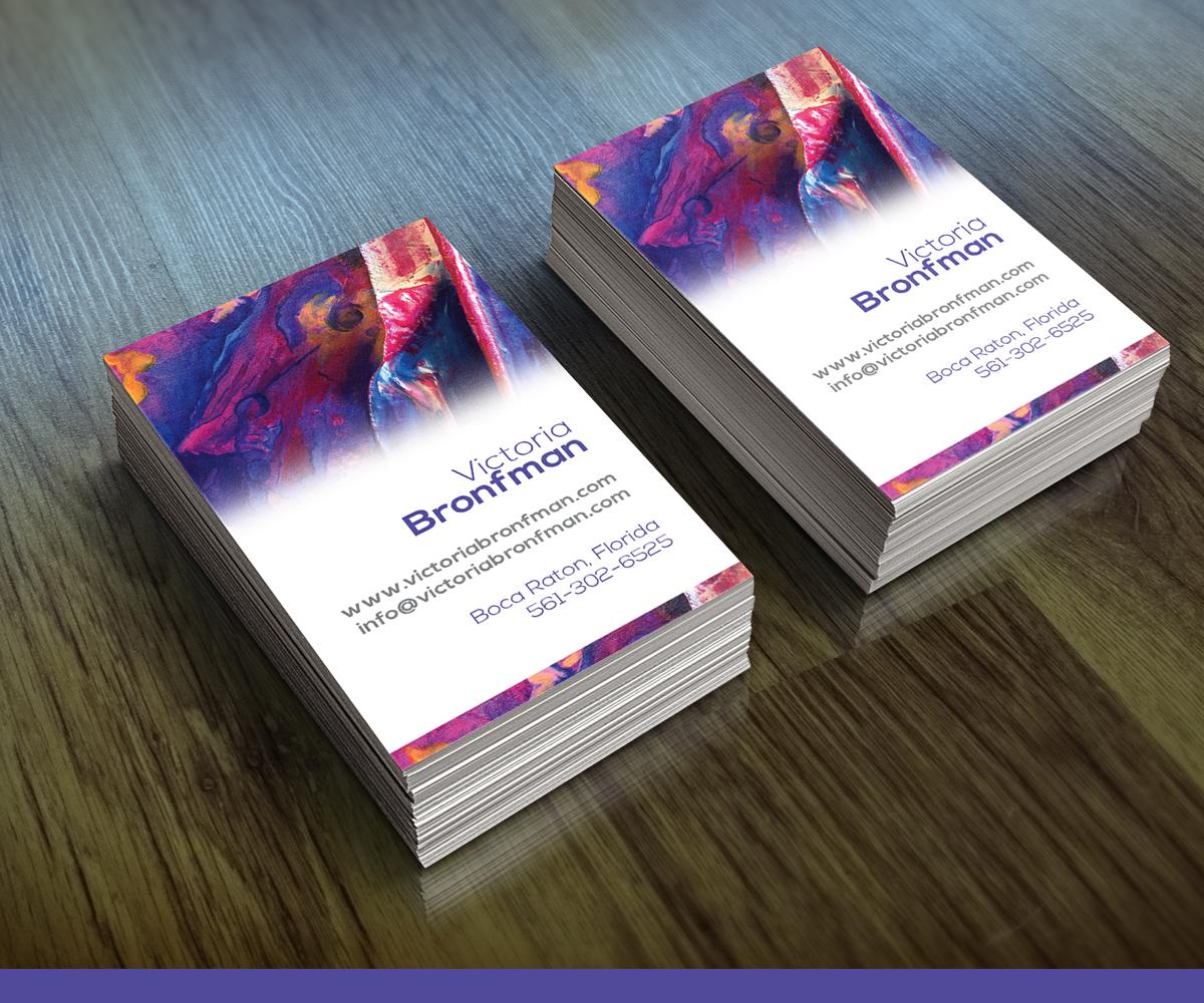 Elegant, Playful Business Card Design for Victoria Bronfman by see ...
