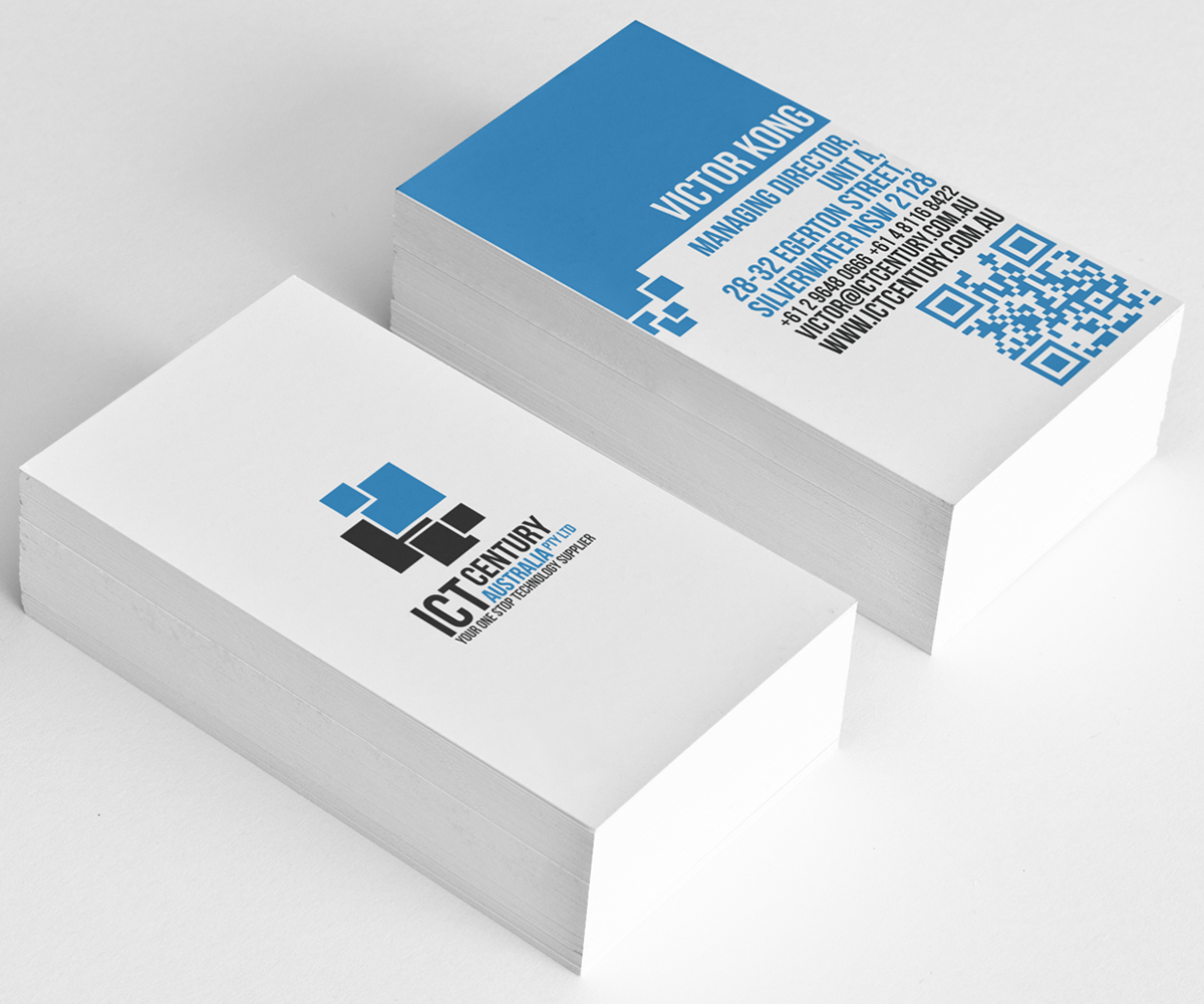Conservative, Serious Business Card Design for ICT Century ...