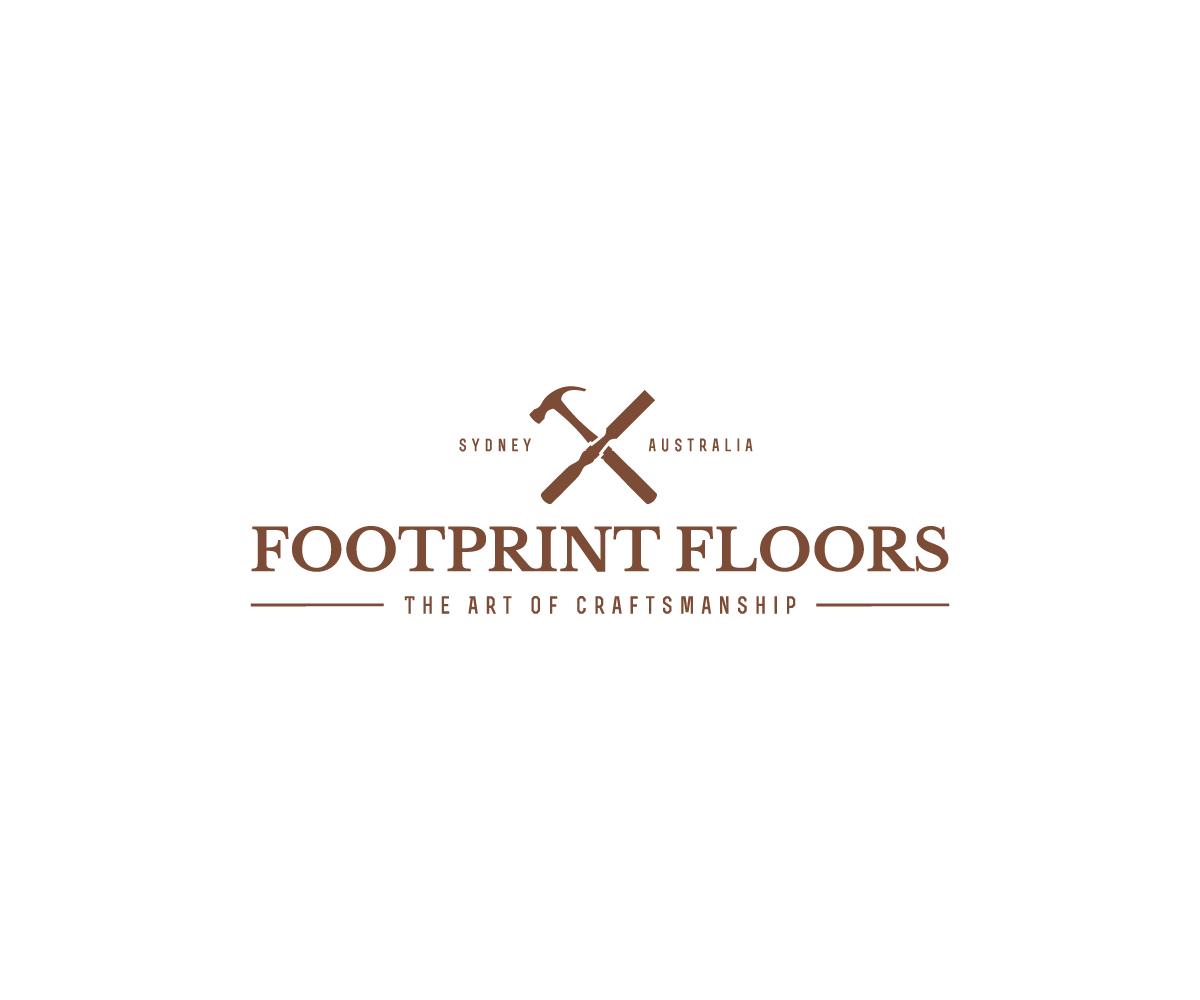Serious Masculine Flooring Logo Design For Footprint Floors The