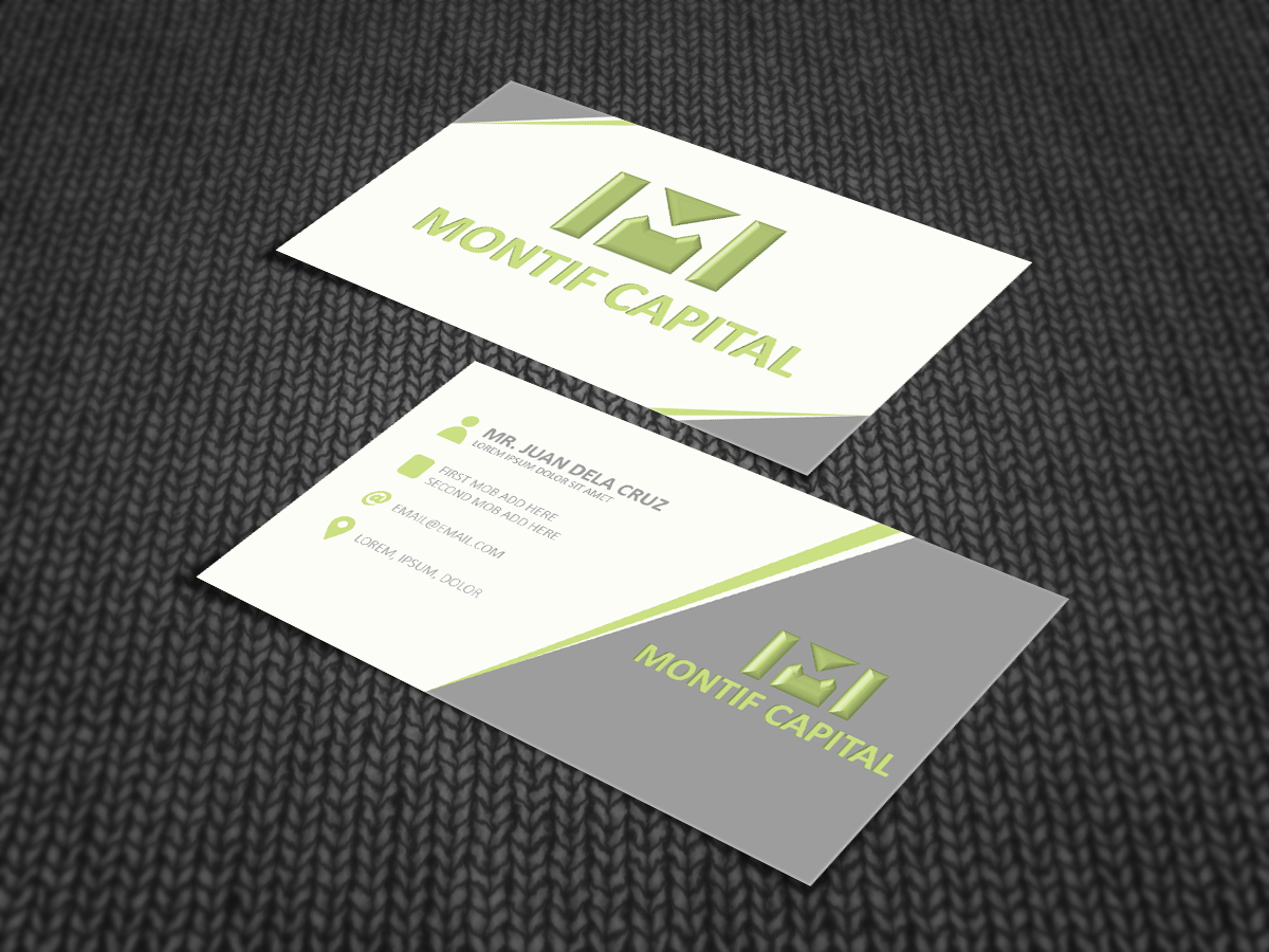 Upmarket elegant business business card design for m by ramjhu business card design by ramjhu for this project design 5566389 reheart Image collections