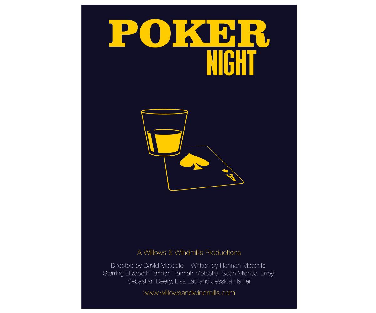 Poker night poster design