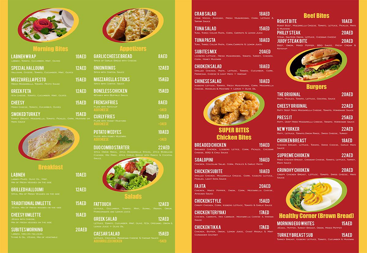 Fast food menu design pixshark images
