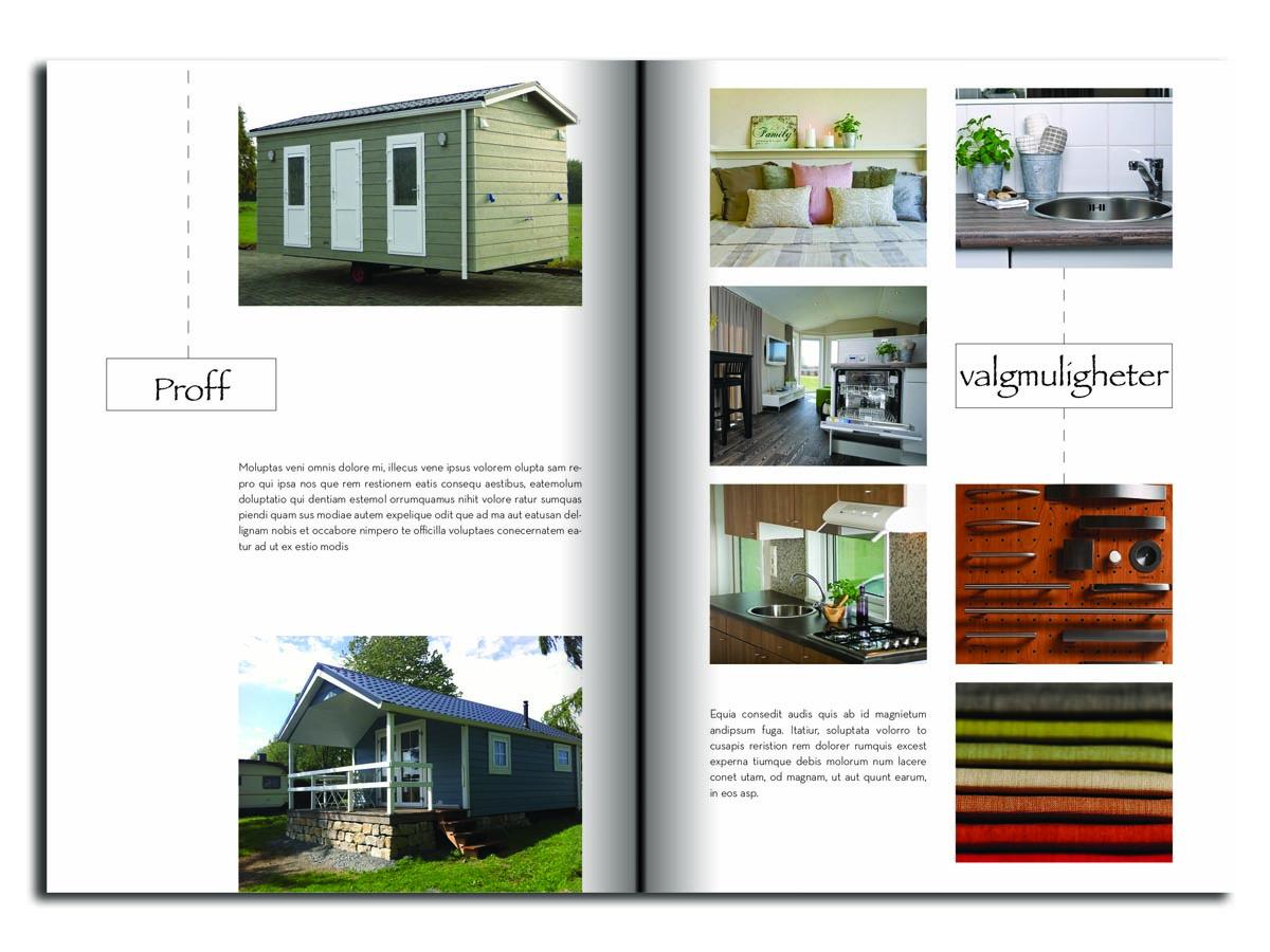 Professional, Upmarket Brochure Design for himmelblaa feriehus as by ...