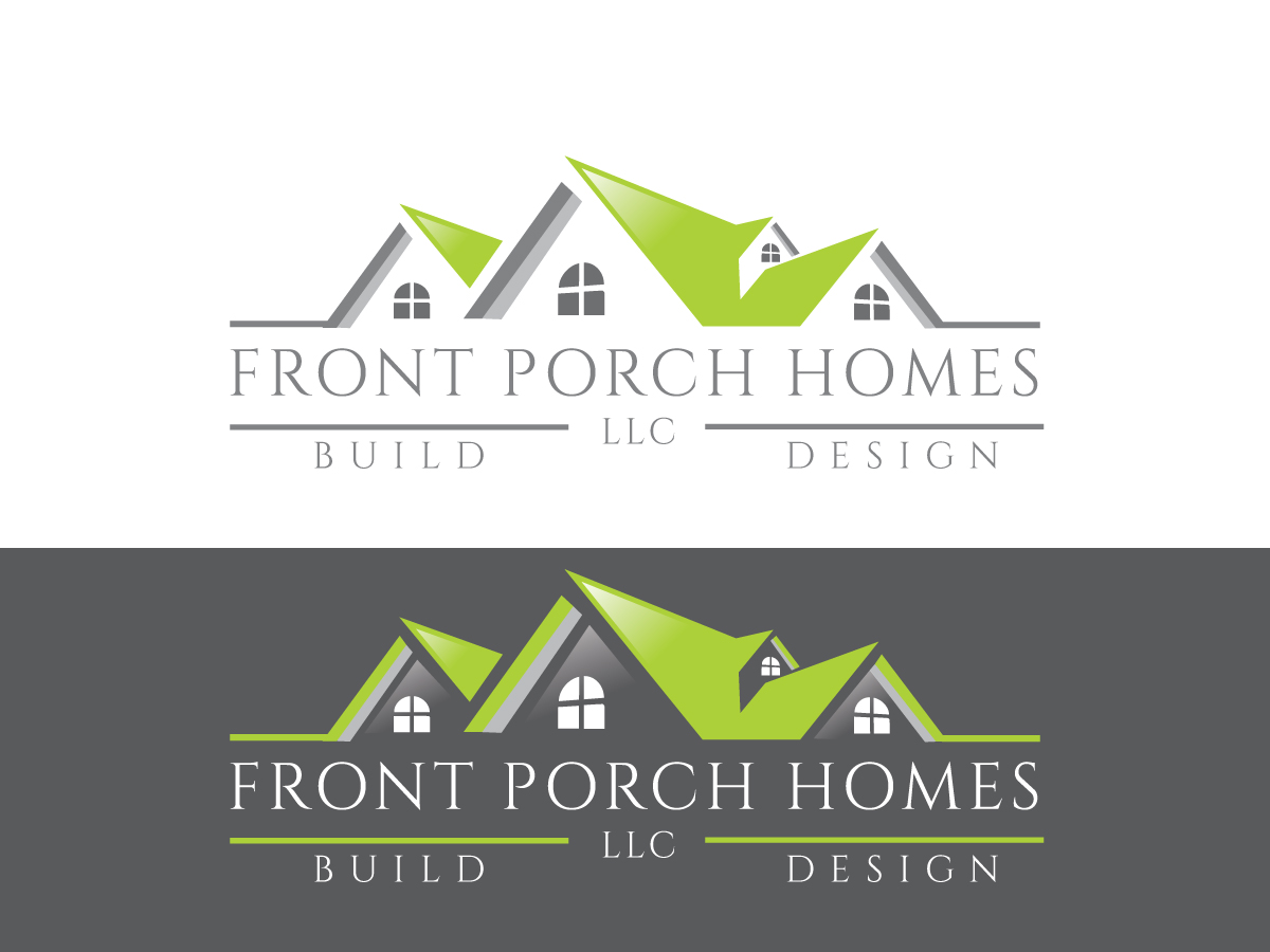 home builder logo design for front porch homes llc by. Black Bedroom Furniture Sets. Home Design Ideas