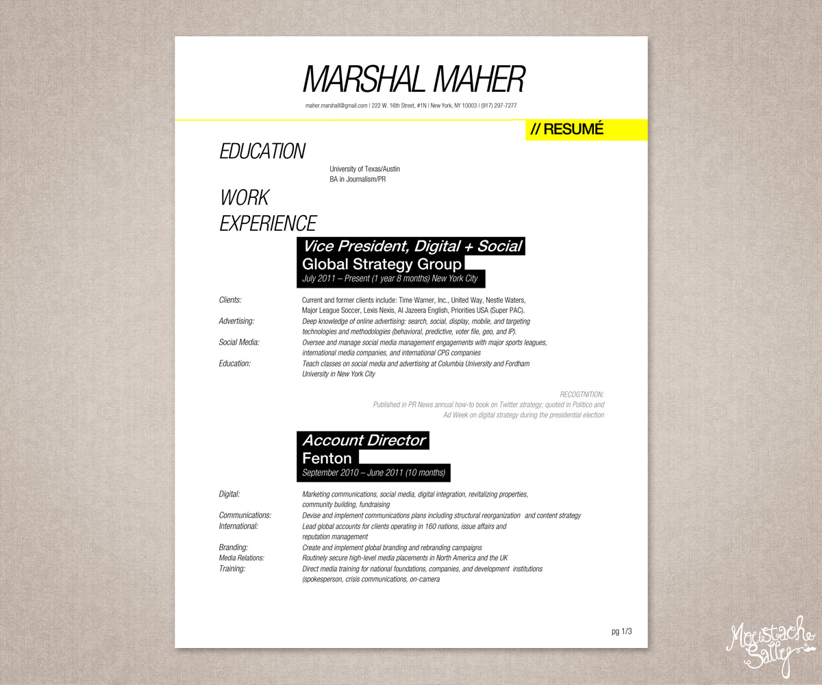 Masculine, Elegant, It Professional Resume Design For A Company In United  States | Design 1519536