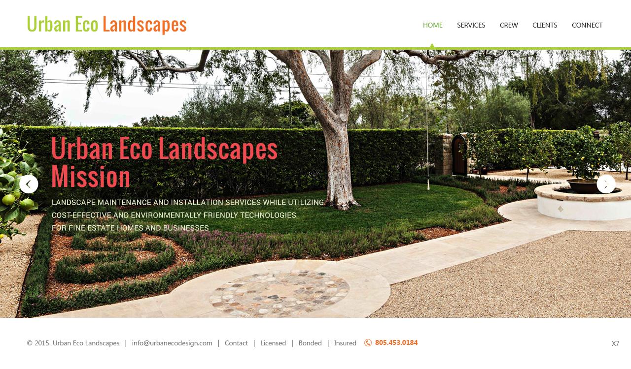 Serious modern web design by pb design 5562406 for High end landscape design