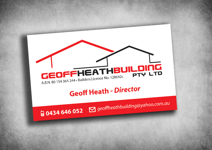 Business Card Design By Blonde Creative For Geoff Heath Building