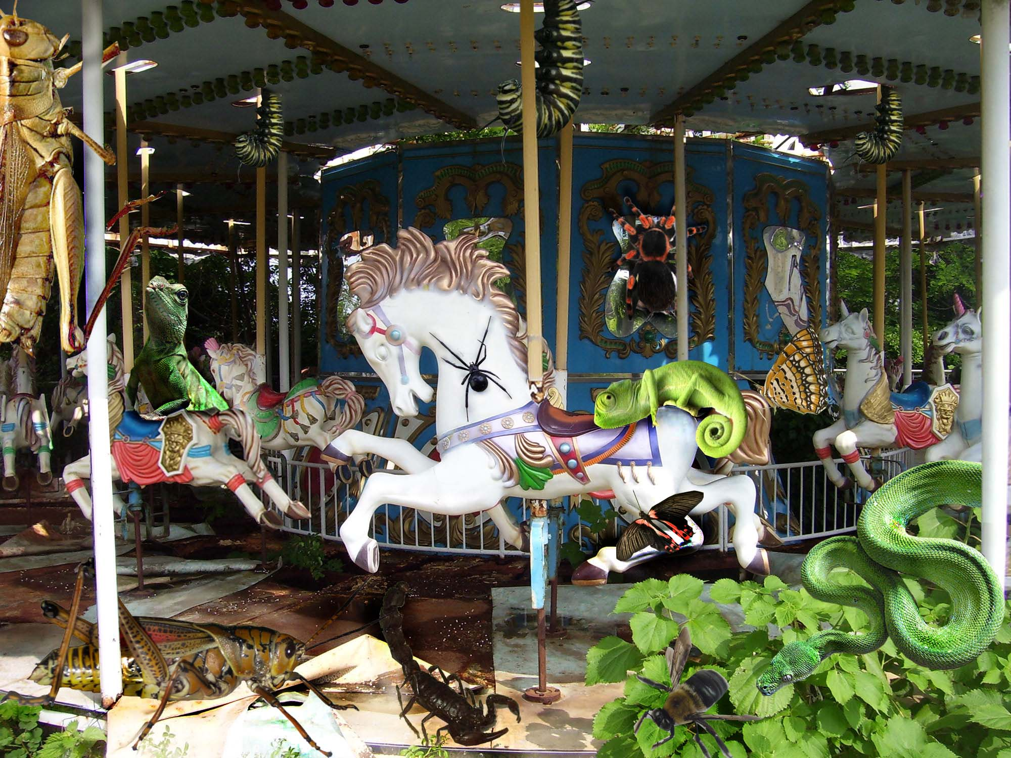 Photoshop Submission For Abandoned Carousel Contest Design 8976877